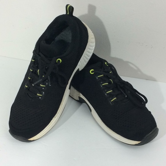 Orthofeet Coral Black Stretchable Shoes